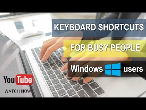 Keyboard Shortcuts [2015] - how to select all, cut, and paste texts, videos, and application