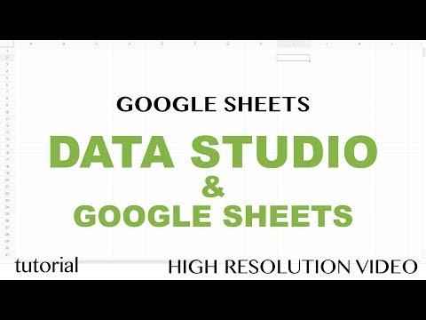 Data Studio & Google Sheets Reports Tutorial - Date Series, Line Chart, Bar-Column Chart - Part 2