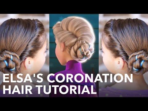 Elsa's Frozen Coronation Hairstyle Tutorial