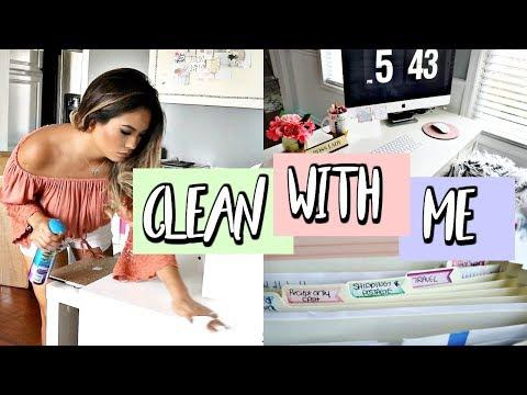 CLEANING AND DECLUTTER MOTIVATION: Office | Belinda Selene