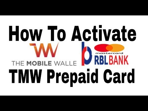 How To Activate The Mobile Wallet Prepaid Card || RBL BANK