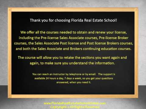 Florida Real Estate School Online