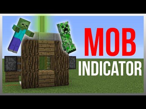 Minecraft 1.12: Redstone Tutorial - Mob Indicator v2!
