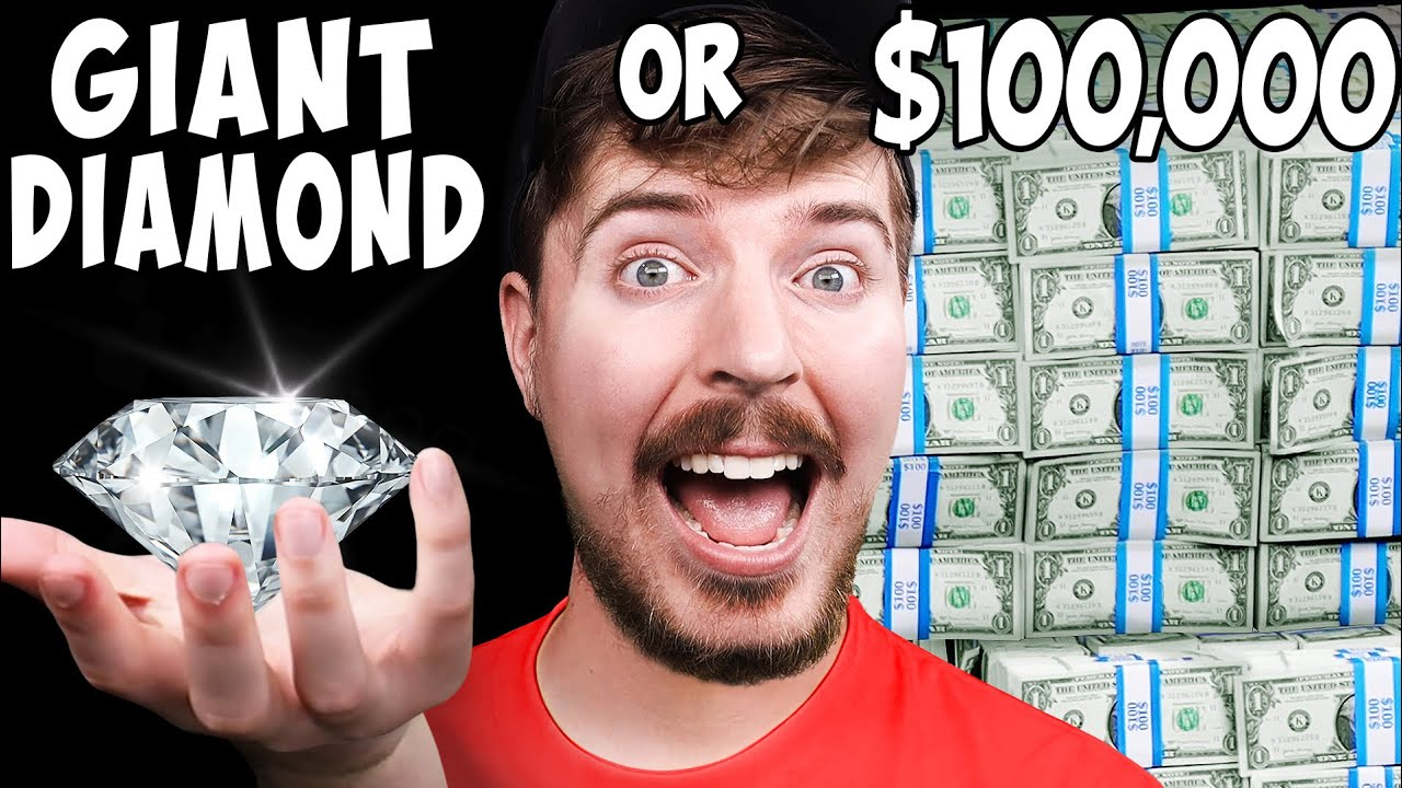 Would You Rather Have A Giant Diamond or $100,000?