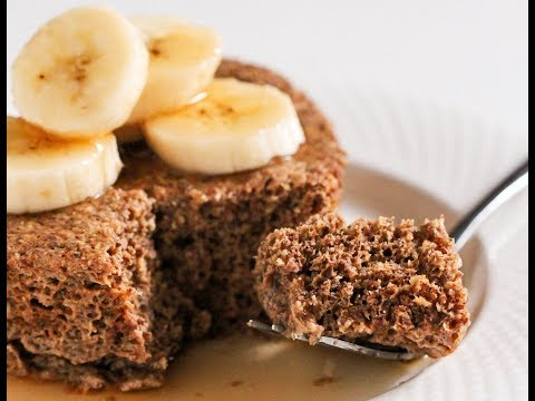 5-Minute Single-Serving Flaxseed Muffin (gluten free, sugar free, low carb, high protein)