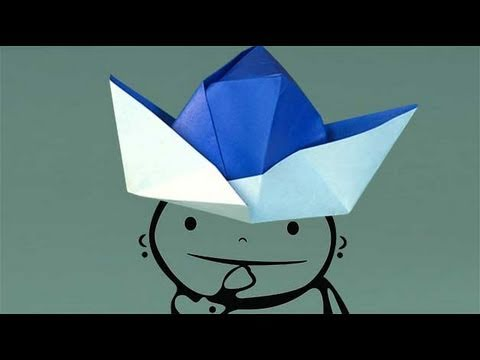 A paper Hat. How to make origami