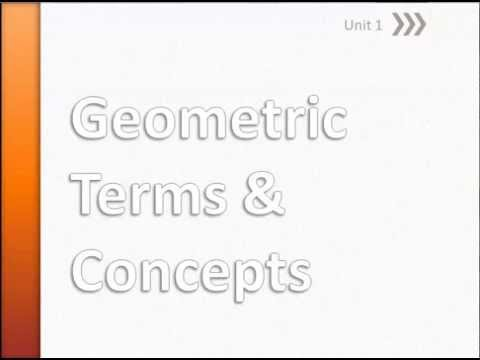 Fall U1 Geometric Terms and Concepts 1