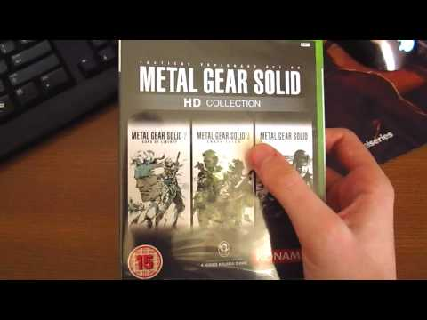 Metal Gear Solid HD Collection Xbox360 Unboxing Video HD[720p]