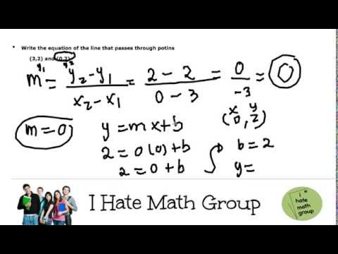 How to find the equation of the line.mp4