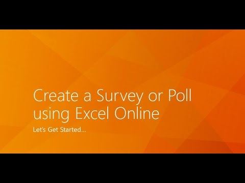 Creating an Excel Online Survey Tool - Office 365
