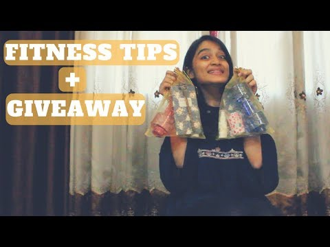 Top 5 Fitness Tips + GIVEAWAY (CLOSED) | WORKitOUT | Kritika Khithani