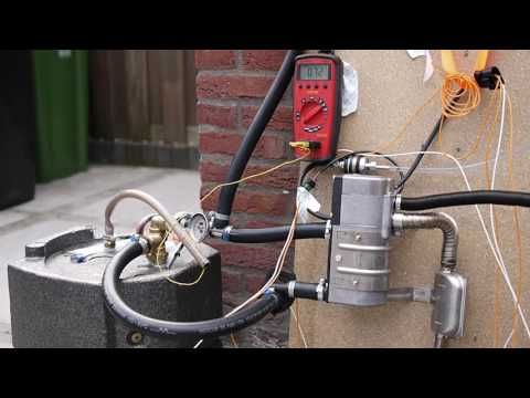 Cold start Eberspacher Hydronic D5WZ with 13L boiler for hot drinking water