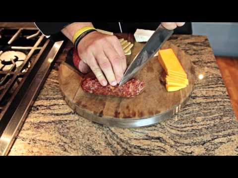 How to Assemble a Meat & Cheese Tray With a Football Theme : Regional American Dishes
