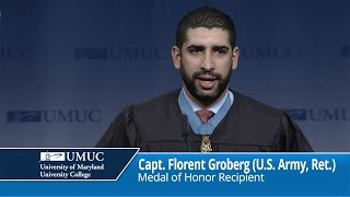 UMUC Commencement Keynote: Captain Florent Groberg - Saturday Afternoon, May 14, 2016