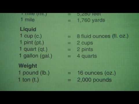 Measurements Lengthfootliquidcuppintquartgallonweightpoundton