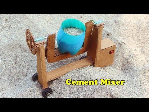 How to Make a Cement Mixer Machine at home 🔄 DIY Concrete Mixer Machine
