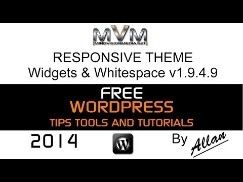Responsive Theme Widgets and White Space 2014