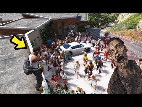 Salvando a Casa do Franklin dos Zombis!!! GTA 5 ZOMBIES