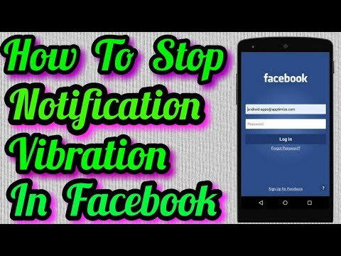 How To Turn Off Facebook Notification Vibration