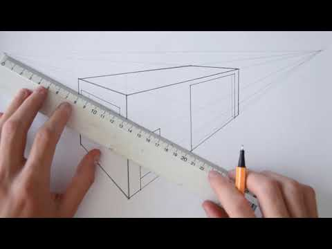 TUTORIAL   HOW TO DRAW A BASIC HOUSE (2-POINT PERSPECTIVE)