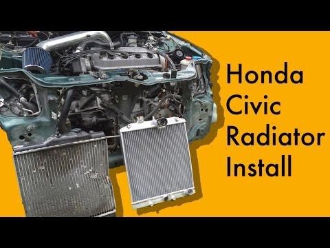 Honda Civic Radiator Install