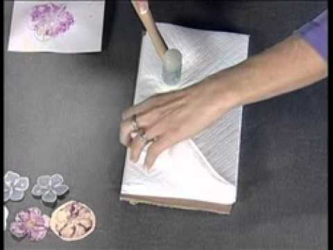 DIY Hammered Flower Card with Staedtler® Ergosoft@ Watercolor and Colored Pencils