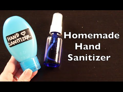 DIY Tutorial On How To Make Hand Sanitizer