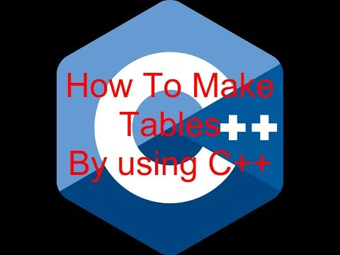 A Simple C++ Program (English) - How to make tables by using C++ language - C Plus Pro