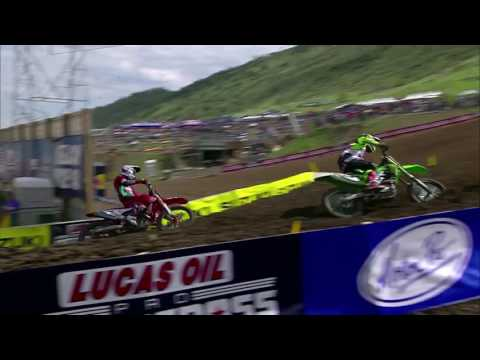 Thunder Valley 450 Moto 2: Baggett's epic around the outside pass on Tomac
