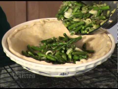 Making an Asparagus Quiche