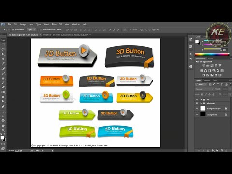 Photoshop Tutorials - How to make Arc like bent 3D Web Button in Photoshop