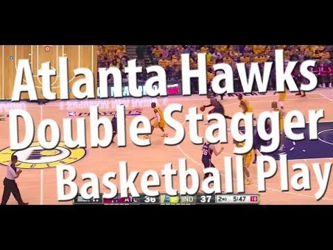 Atlanta Hawks Slice Double Stagger Basketball Play | Getting Korver an Open Shot