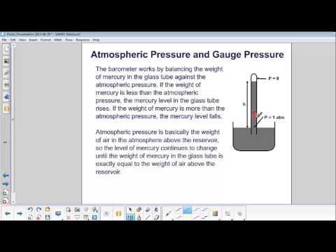 Fluids - Atmospheric Pressure and Gauge Pressure