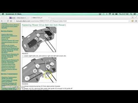 John Deere Z465 Mowing Belt Diagram Part 1