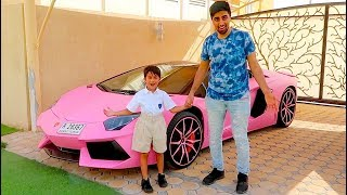 FIRST DAY OF SCHOOL IN A LAMBORGHINI !!!