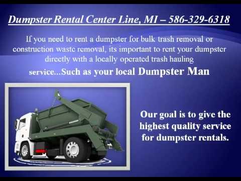 Dumpster Rental Center Line 586-329-6318