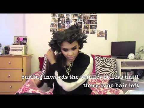 How to Wave/ Curl Hair using Heat Rollers     ▾