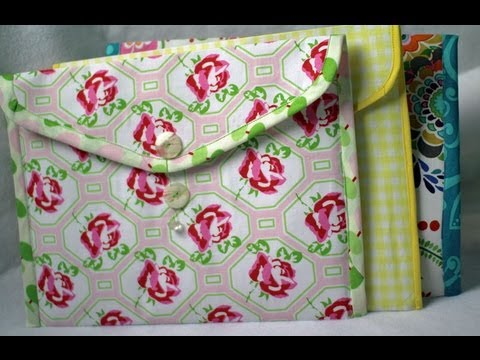 How to Make Fabric Folders- Envelope style (TRAILER VIDEO)