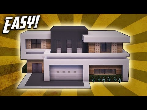Minecraft: How To Build A Large Modern House Tutorial (#25)