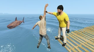 Crazy Jumps and Falls Into Water in GTA 5! (Funny Moments)