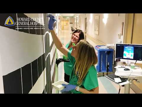 Construction Wall Mural by Labor & Delivery staff