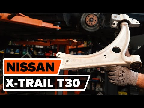 How to replace front lower arm NISSAN X-TRAIL T30 TUTORIAL | AUTODOC