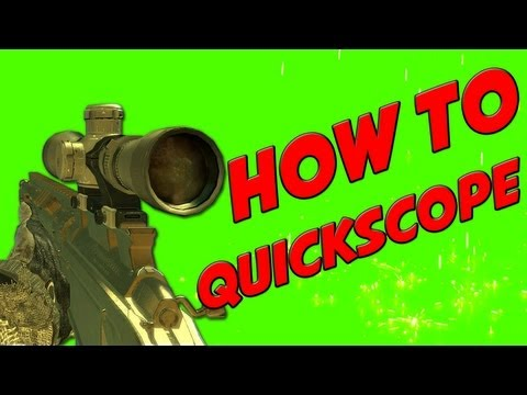 How To Quick Scope in MW3!