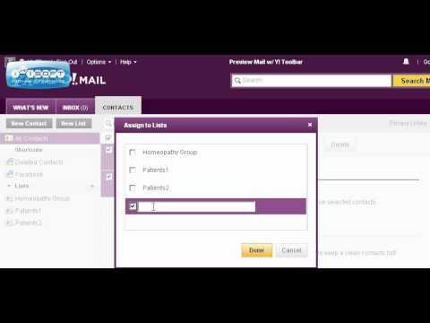 Yahoo: Create Email List