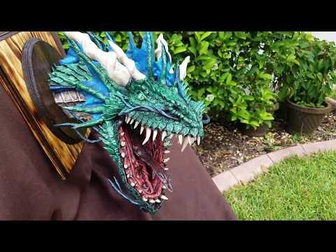 Paper Mache Green Sea Dragon