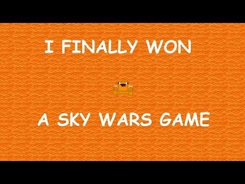 I FINALLY WON! | Minecraft : Sky Wars