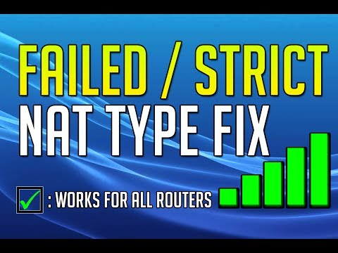 HOW TO FIX PS4 NAT TYPE ERROR/STRICT/FAILED (Tested on different routers)