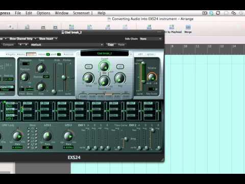 Convert Audio to EXS24 Sampler