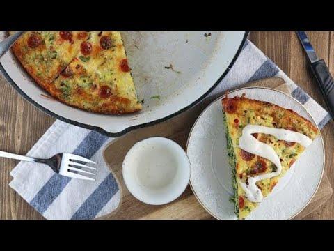 Keto Recipe - Keto White Pizza Frittata