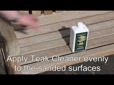 How to Restore Your Teak Garden Bench